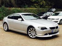 2006 BMW 630 3.0 Auto i Sport Silver only 72,949 Miles FSH 9 Stamps SUPERB!!!!!!