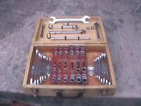 Full set of Metric & Imperial spanners,long series &standard sockets & hex drive Allen keys
