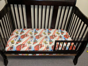 Crib/ Toddler Bed with Extra Toddler rail