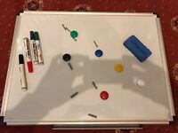 Magnetic whiteboard white board with pens