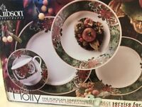 Christmas place setting for two