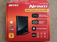 Wireless Router (Buffalo NFINITI wireless-N router. Acces point and bridge