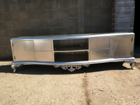 Large high quality silver leaf tv stand, sideboard, side unit