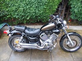 Yamaha Virago xv535 custom cruiser motorcycle. 2002.
