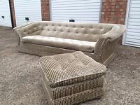 "Brand New Three seater sofa and foot stool *Immaculate* ""Free delivery """