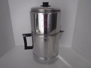 VINTAGE CAMPING COFFEE MAKER DRIP O LATOR LARGE 10-20 CUP SIZE