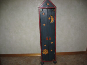 Very unique hand made wooden Cabinet for sale.