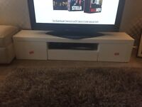 Reduced price!!!! White High Gloss Tv Unit