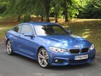 BMW 420d 2.0 ( 184bhp ) Auto d M Sport SATNAV + RED LEATHER + XENON'S + D.A.B