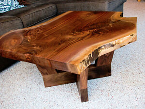 Live Edge Walnut Slab Coffee Table