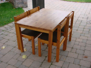 "Danish Denmark Table Chairs 1970"" Retro  Mid Century"