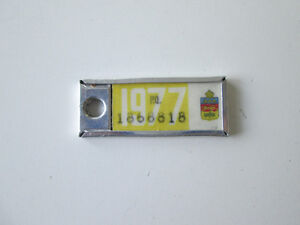 1977 Collectible Mini license plate from Quebec
