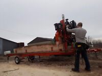 Custom Portable Saw Mill Service - Great Rates, Quick Service