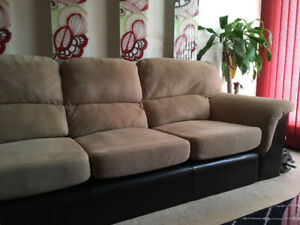 Used Sofa ($200) and Loveseat ($50) – Dual-toned Upholstery