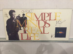 Simple Minds signed Real Life