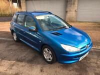 2004 (53) Peugeot 206 SW 5 Door Estate 2.0HDi 90 S Hawaii Blue Metallic