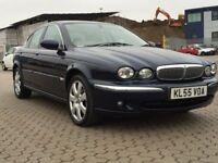Jaguar X type 2.2 D SE fully loaded cream leather satnav metallic deep sea Colour