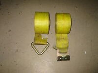 "Winch straps 4""x30', ratchet straps"