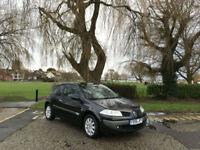 2006/56 Renault Megane 1.6 VVT Dynamique Automatic 3 Door Hatchback Black