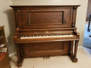 Antique Upright Grand Piano