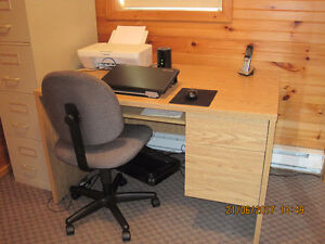 2 Drawer Wooden Desk With Chair