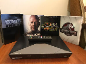 Sony Blu-Ray Player with Blu Ray collection