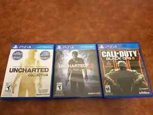 PS4 games for sale: Uncharted and Black Ops