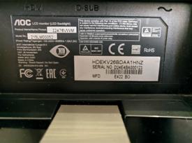 "AOC LCD 24"" screen desktop PC mac"