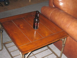 Beautiful Large Heavy Set of 2 End/Side Tables for Sale