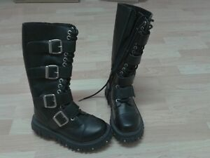Black Leather Buckle Strap Boots for Sale! London Ontario image 1