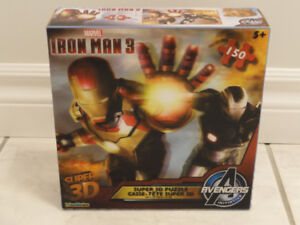 NEW! -- MARVEL IRON MAN 3, SUPER 3D JIGSAW PUZZLE -- 150 PIECES