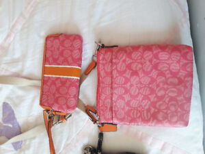 Coach cross body purse and wallet