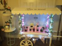 Wedding sweet cart for hire £60