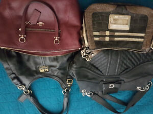 PURSES.....2 GUESS AND 2 COACH