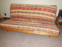 Futon with Solid Pine Frame