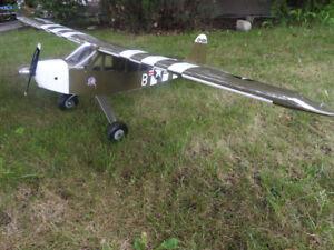 Piper Cub + OS 55 AX