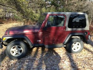 2003 Jeep TJ (with hardtop and soft top)