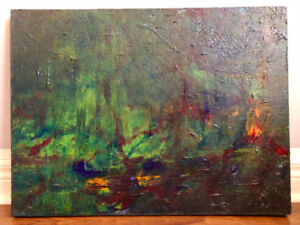 PAINTING Abstract Original Acrylic Wall Art 24 x 18 Inches
