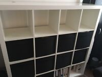 IKEA EXPEDIT / KALLAX shelving plus 9x DRÖNA BOXES in Central London
