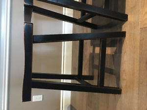 3 country time bar stools.
