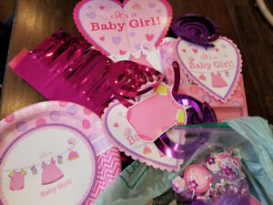 Party city it's a baby girl decorations