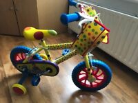 """**As New Mr Tumble 12"""" Children's/Kids Bike With Stabilisers**"""