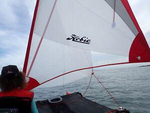 Hobie Mirage Islander Sail ONLY -- Hibiscus Red