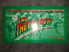 """And They're Off"" The horse racing game for all the family. New."