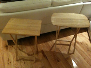 Tables d'appoint pliantes / Folding Side Tables