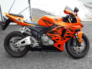 Cbr 600rr 2006 orange+tribal