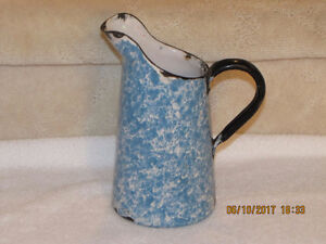 Water Pitcher - Enamel Ware - Vintage