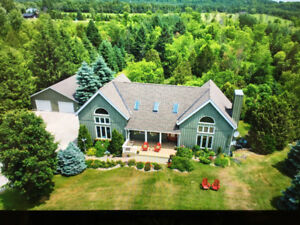 Timberframe home on 8.74 acres.. OPEN HOUSE :AUG 19, 1-4