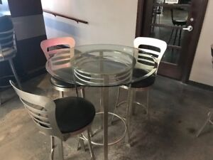 Glass top Bistro Set