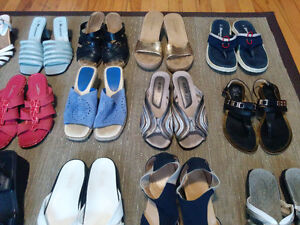 Quality Summer Sandals (15 pairs)......size 6 - 7